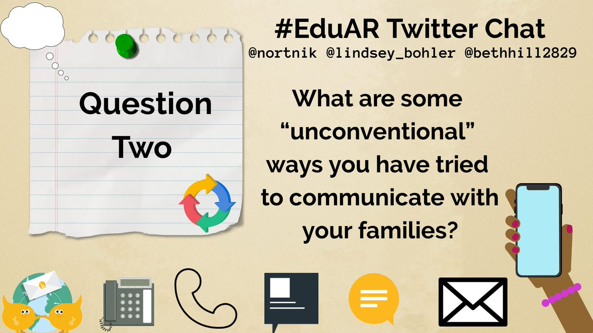 Question Two is up! Can't wait to see responses! @nortnik @Lindsey_Bohler #EduAR