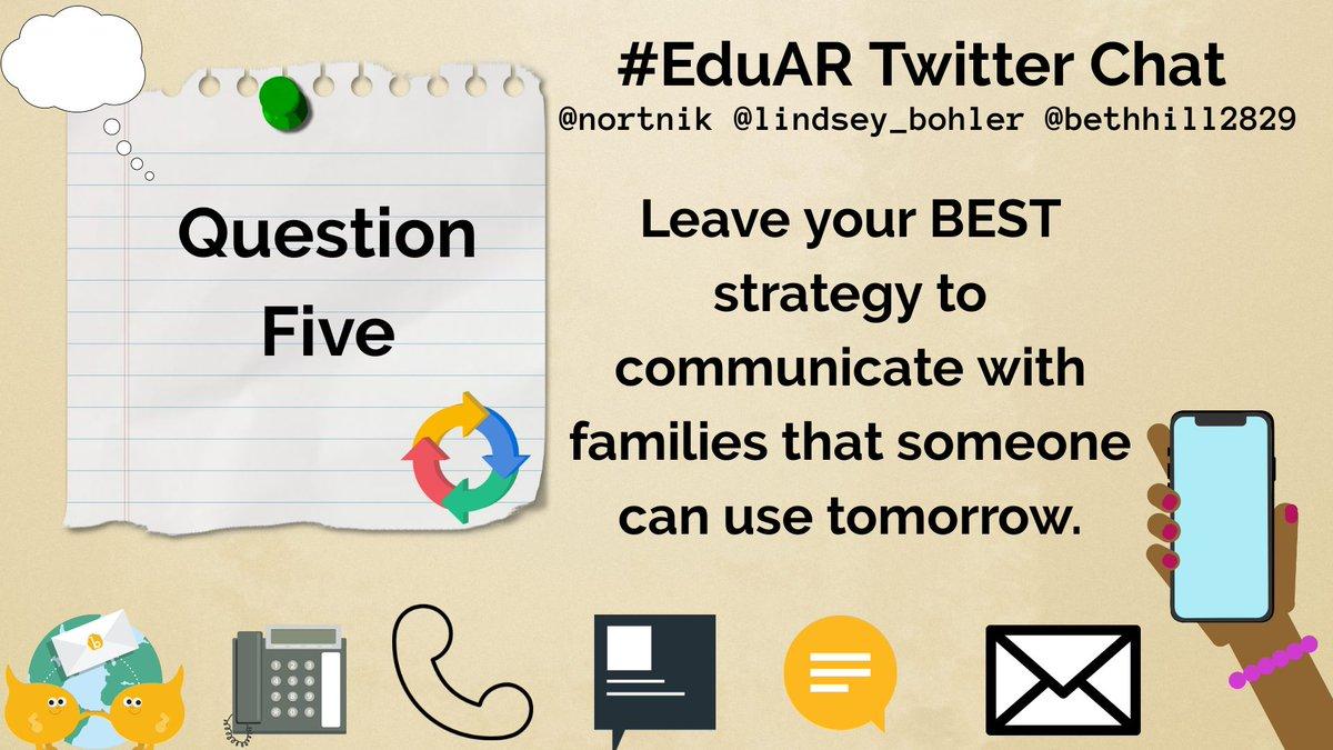 LAST question is up! Share, share, share! @nortnik @Lindsey_Bohler #EduAR