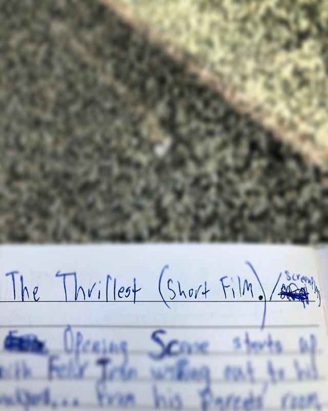 The start of something new. #screenwriting #TheThrillest #shortfilmcoming #thiswinter #indevelopment #istaybusy #filmingsoonpic.twitter.com/BZtDnmcSzb