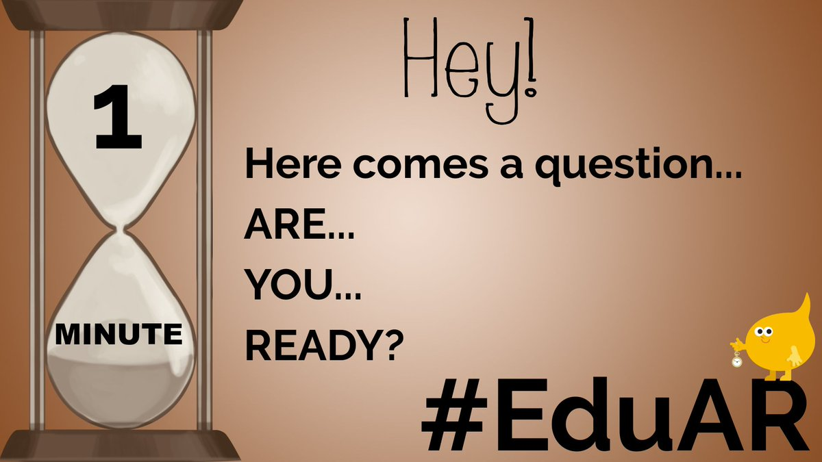 Can't believe it, but our LAST question is on deck! @nortnik @Lindsey_Bohler #EduAR