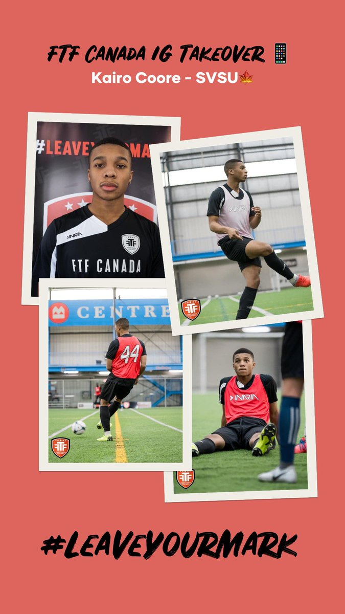 Check out our FTF Takeover with @SVSUsoccer ST Kairo Coore on our @instagram Story   Kairo gives us an inside look into life as a collegiate athlete so far in his freshman season   Instagram: @ ftfcanada_   #FTFAlum  #FTF #LeaveYourMarkpic.twitter.com/g6y3VcB30z