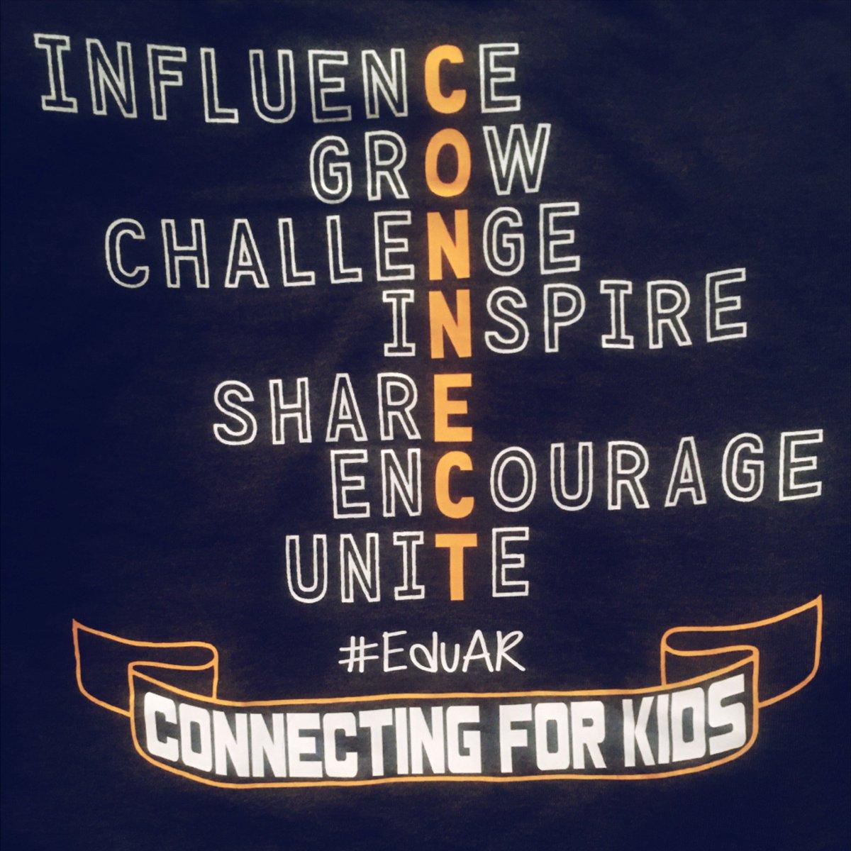Our mantra in #EduAR is 'Connecting for Kids'. We are better together! @nortnik @Lindsey_Bohler