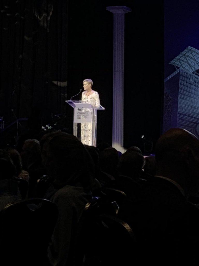 @atlchamber Metro Atlanta Chamber's CEO @HalaModdelmog is hosting tonight's #FourPillar Tribute