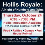 """Image for the Tweet beginning: Join us for """"Hollis Royale"""""""