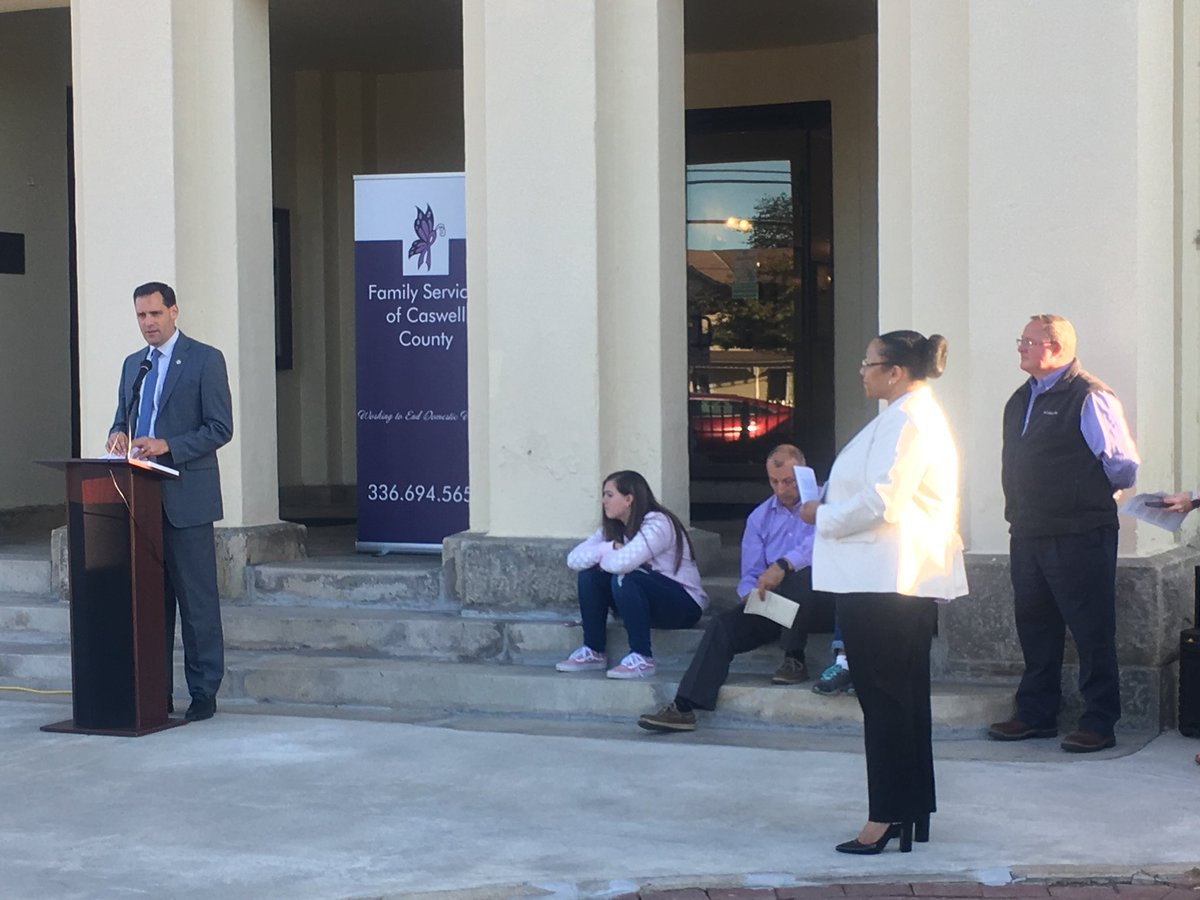 October is Domestic Violence Awareness month, a time to remember those impacted and come together to promote healthy relationships. This evening, I got the opportunity to attend the Domestic Violence Remembrance Vigil hosted by Family Services of Caswell County.