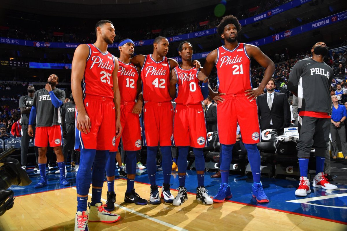 Sixers average height is atleast 8'3