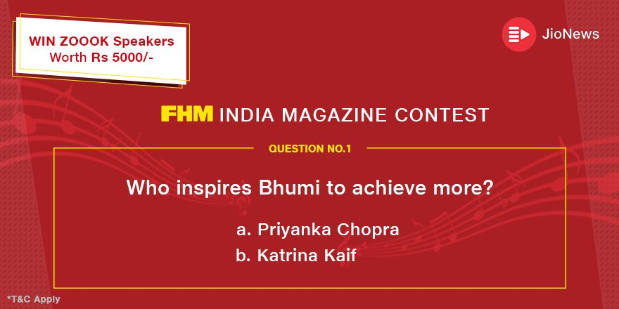The first question is here!  Steps to participate: 1. Read @fhmindia Magazine on #JioNews app 2. Follow @JioNews on #Twitter 3. Answer a simple question 4. RT & Tag your friends  #Contest #ContestAlert #ContestIndia #StayTuned #contests #contesttime #win #India4contest<br>http://pic.twitter.com/HStnkLfkKQ