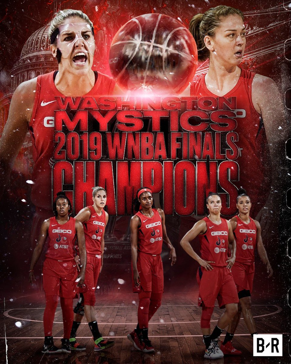RT @BleacherReport: Washington Mystics win their first WNBA title! 🏆 https://t.co/2UldzD0QRr