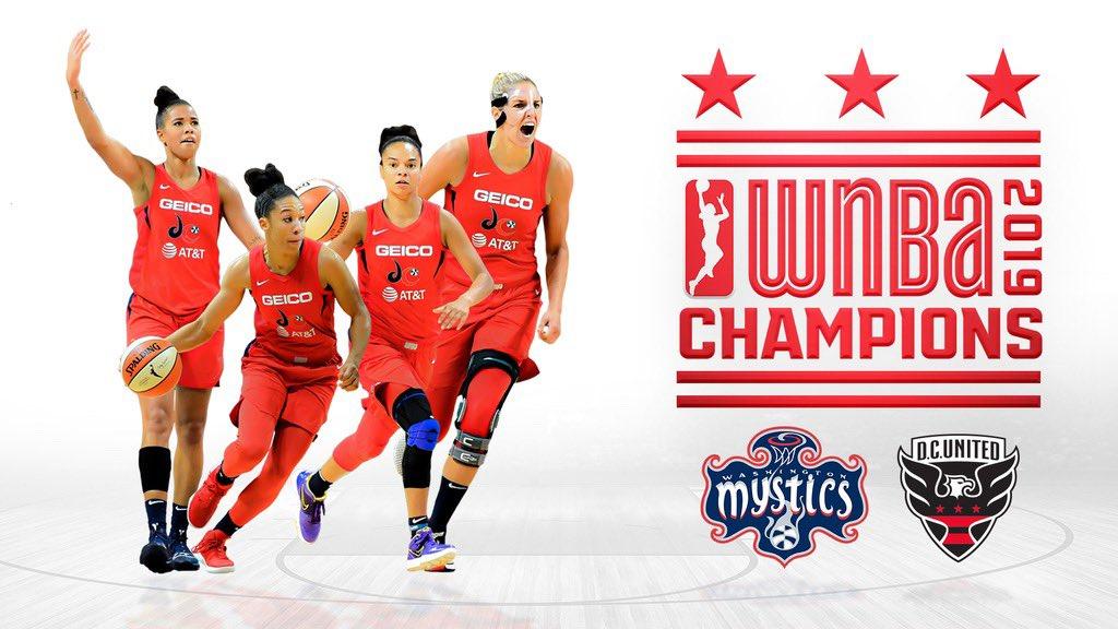WNBA CHAMPIONS !!!!!!!!!!!! Congrats @WashMystics #TogetherDC
