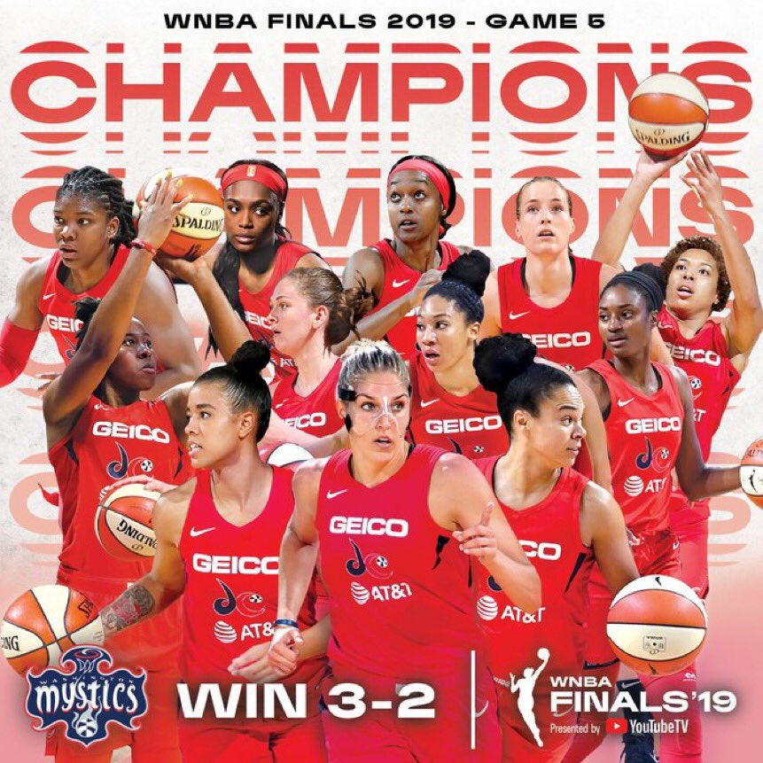 Congratulations to the @WashMystics on claiming their first #WNBA title in franchise history! 🏆🏀