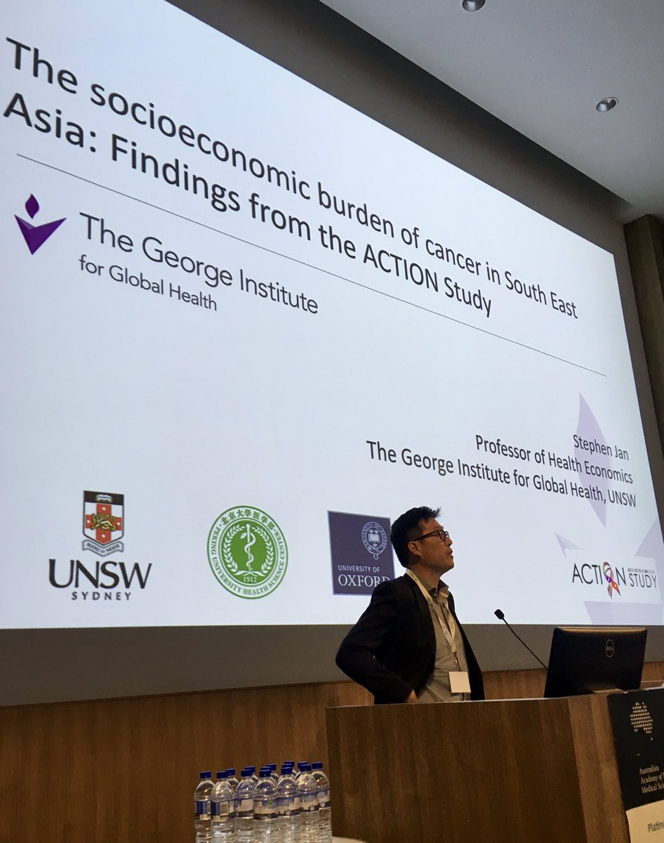 Prof Stephen Jan from @georgeinstitute is looking at the health economics of universal health coverage in developing countries - to work out how coverage might be improved
