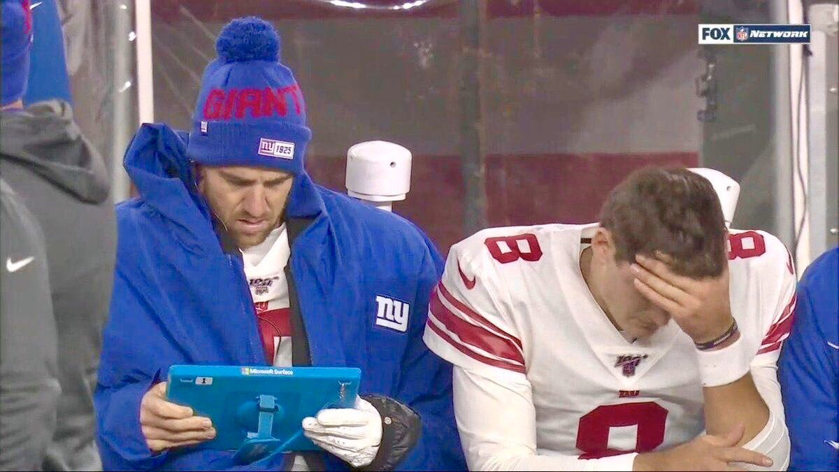 """""""Hey man, all you gotta do is just throw it up and pray your receivers catch it. Worked with me in two Super Bowls. I gotta find this highlight, this one dude even caught it with his head"""""""