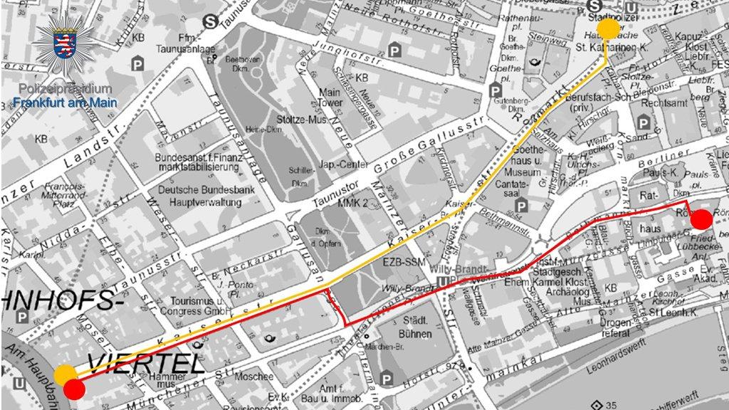 Aufgrund von Demonstrationen ist morgen mit Einschränkungen im #FfMVerkehr zu rechnen.  Betroffene Bereiche:  #BhfGebiet #Roßmarkt #Hauptwache #WillyBrandtPlatz #Römer  Wir informieren euch hier mit aktuellen Infos aus unserem Einsatz unter #FfM1210.  // #FfM #Frankfurtpic.twitter.com/FtVfrxgBQo