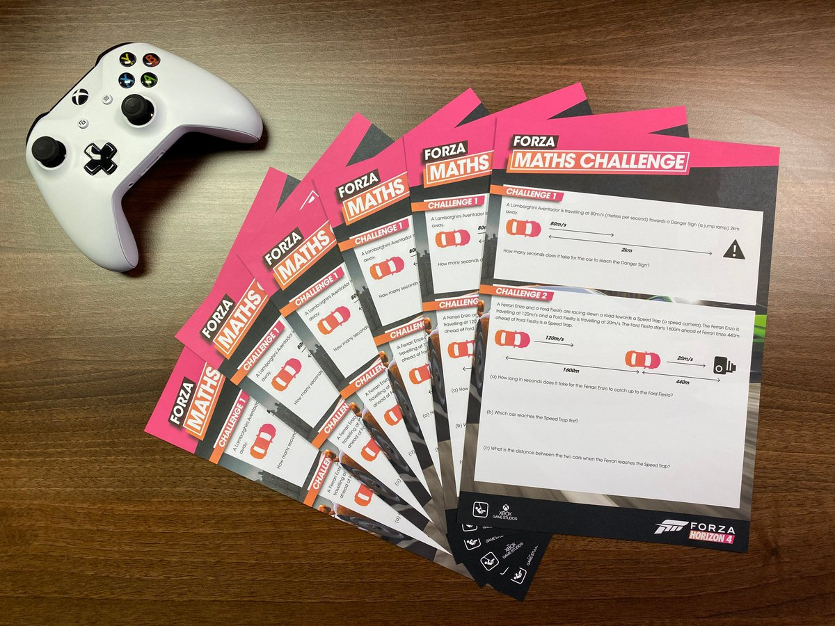 Mathematics is a key skill no matter what part you play in video game development. To help encourage maths skills we have created the Forza Maths Challenge! If you work with young people and would like print or digital copies please get in touch - recruitment@playground-games.com