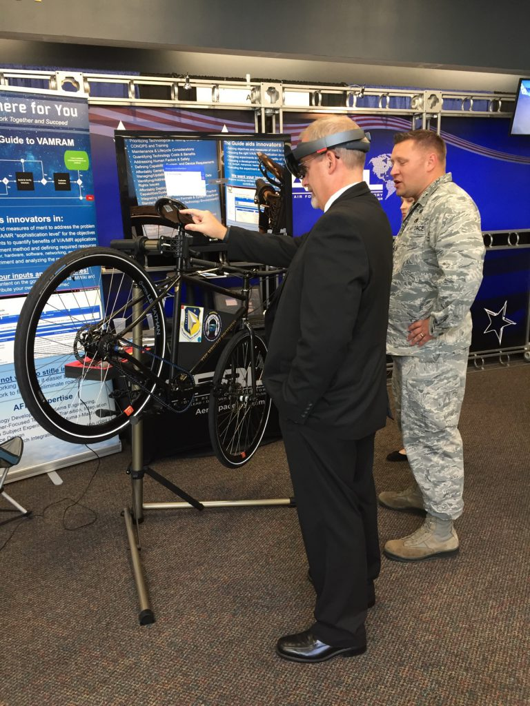 How can a bicycle help airmen with aircraft maintenance? With #VirtualReality of course! See how its being done here: bit.ly/AFRLVR #AFResearchLab #VR #Bicycles #Innovation