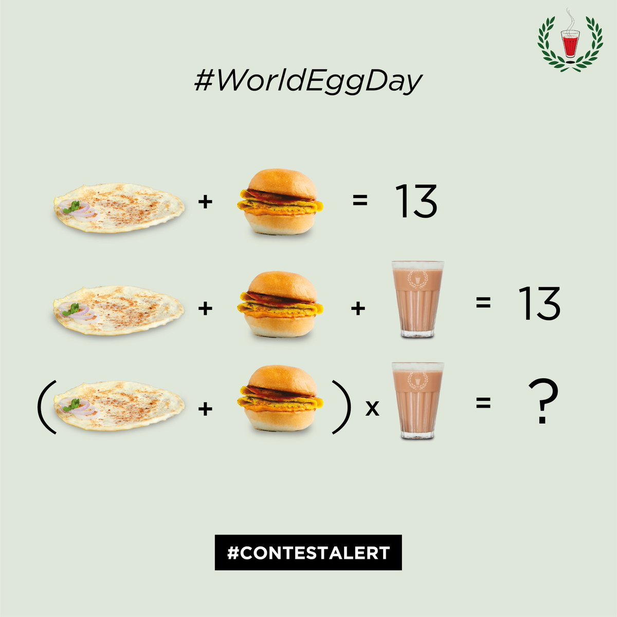 Scoring an anda isn't such a bad thing after all! Solve the equation to #win big this #WorldEggDay   Rules: 1) Follow us 2) Comment your answers 3) Like & RT 4) Tag 3 anda lovers for brownie points!  #contest #contesttime #ContestIndia #ContestofChampions #contests<br>http://pic.twitter.com/i8o2plfsS4