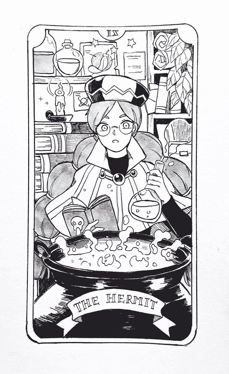 Tarot Inktober Day 10: The Hermit #cookierun #inktoberday10 #inktober #Inktober2019