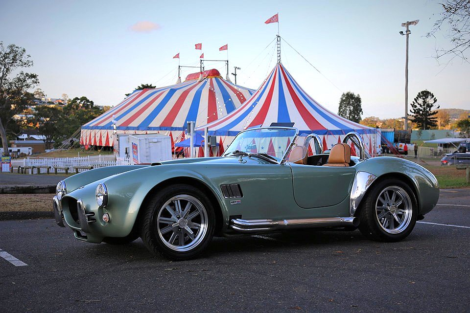 How many clowns could you fit in a Cobra? #Cobra #ACCobra #Shelby #MuscleCar #ClassicCar