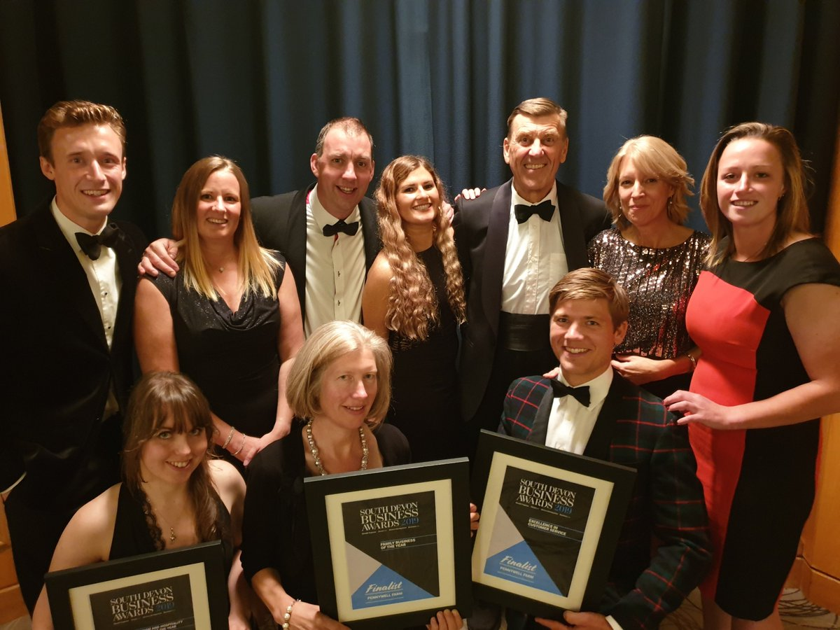Many congratulations to all the worthy winners last night from all the team at Pennywell Farm #SDBA19 A good evening was had by all! @Ladys_Mile @SteveBristow_SM @JazzHandsCIC @RiverDartCP