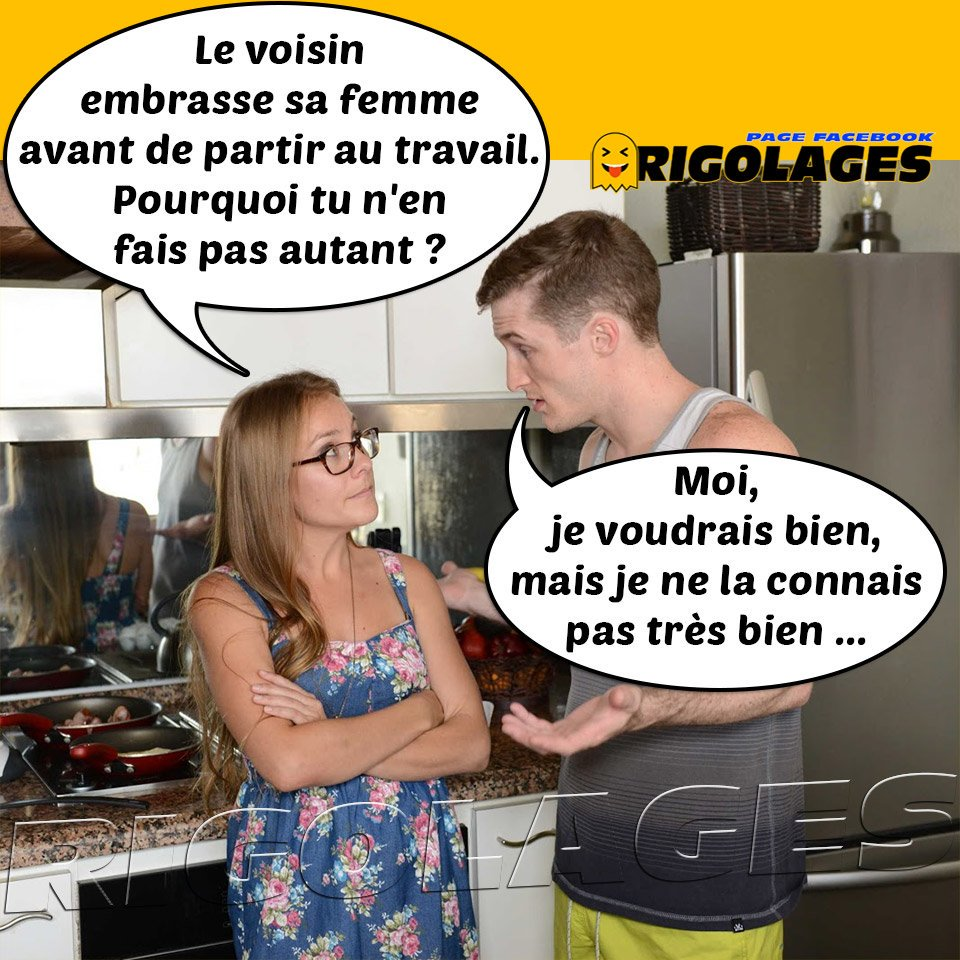 """Rigolages on Twitter: """"#rigolages #humour #couples #voisins #embrasser  #travail… """""""