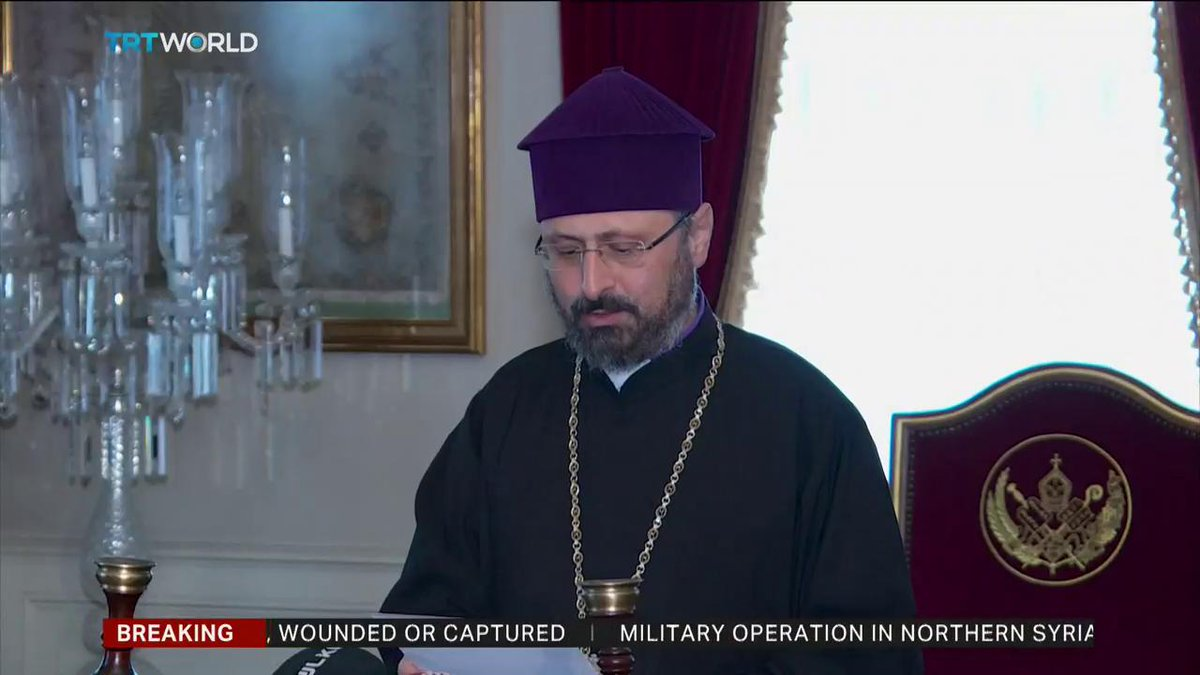 Armenian Patriarch of Istanbul releases message of support for Turkeys anti-terror #OperationPeaceSpring in northern Syria, says unfortunately the establishment of peace is not possible by peaceful means sometimes