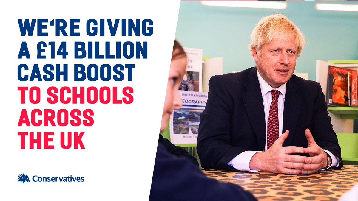 Our funding for schools will ensure that every child in the country has an equal opportunity to succeed, and get the best possible start in life.