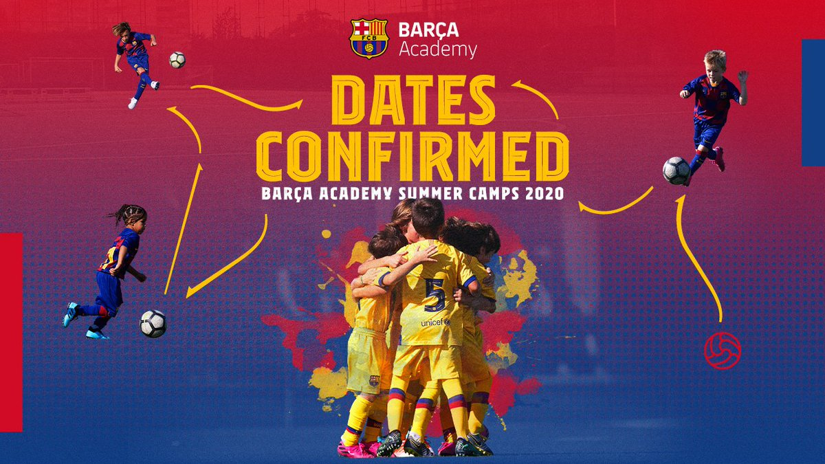 #BarçaAcademySummerCamps SAVE THE DATE! Train at  @FCBarcelona training pitches Meet  #FCBarcelona players Live the time of your life in Barcelona Make new friends from more than 50 countries  WE'RE WAITING FOR YOU! SHARE IT!  INFO:  http://ow.ly/x3Cy30pHASW