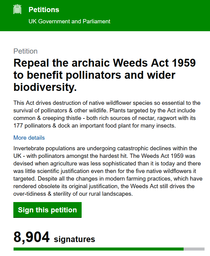 This is a sensible and moderate ask - repeal an archaic law that acts against nature conservation interests. petition.parliament.uk/petitions/2667… Plz RT