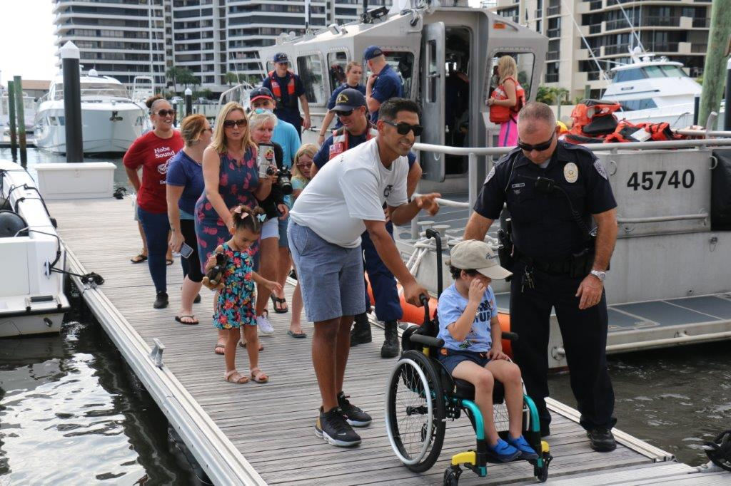 Station Lake Worth Inlet and other partner agencies helped a boys dream come true – by riding with maritime law enforcement teams on the water. The boy has an aggressive form of brain cancer, and through the help of a non-profit organization, his dream became a reality.