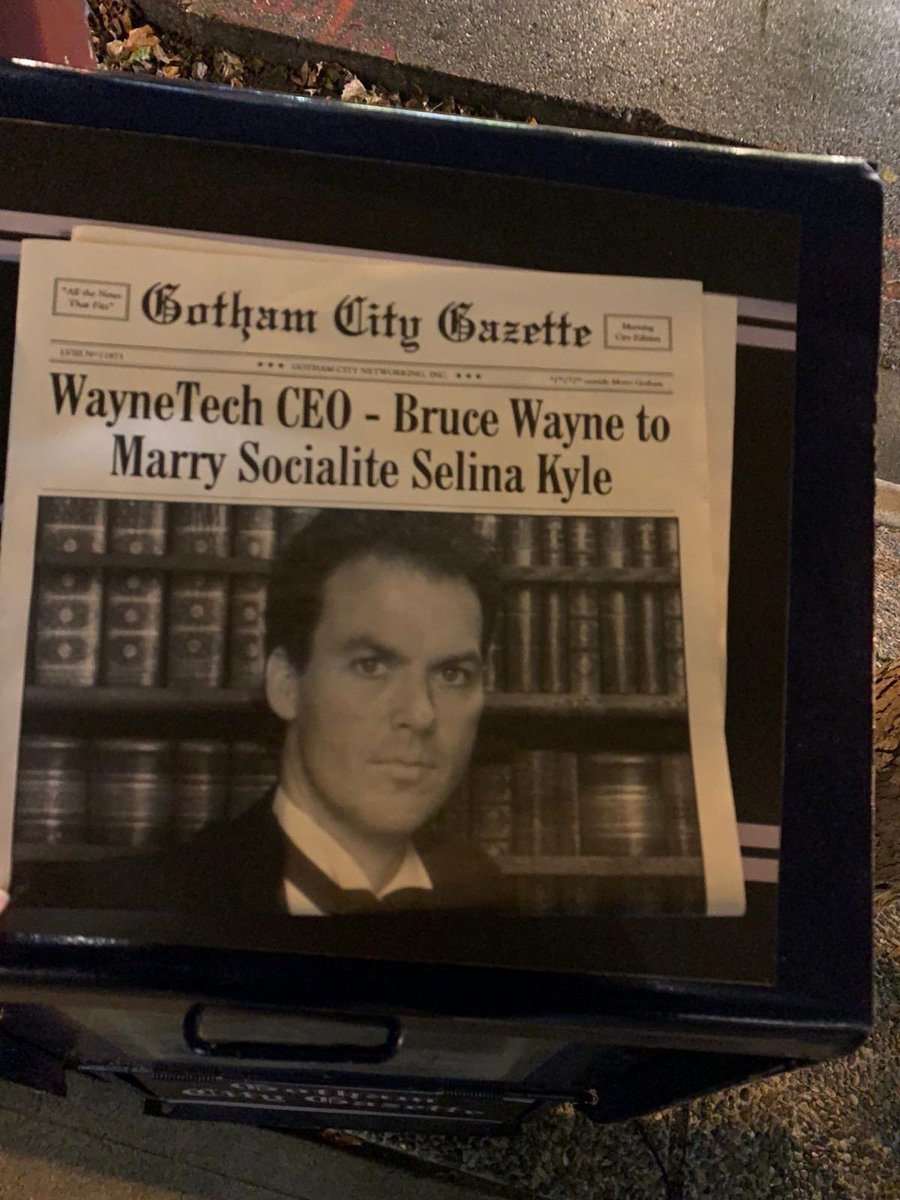 Newspaper on the set for Crisis on Infinite Earths