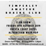 Image for the Tweet beginning: Timperley Amateur Boxing Club will