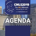 Are you ready? Take another look at the agenda and finalize any plans for CMLS2019 in Salt Lake City. https://t.co/aJPvEnaJXi The real estate industry is coming together for the MLS moment. #CMLS2019 #realestate #multiplelistingservices