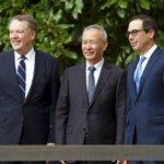Image for the Tweet beginning: U.S. & China Trade negotiators