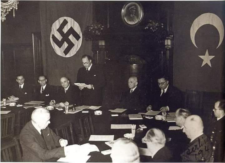 Turks, the friends of Donald Trump. in 1941 in Ankara with Nazi officers which help them to build the structure of the New Turkish military system. Did Turkey help usa in world war second in Normandy?