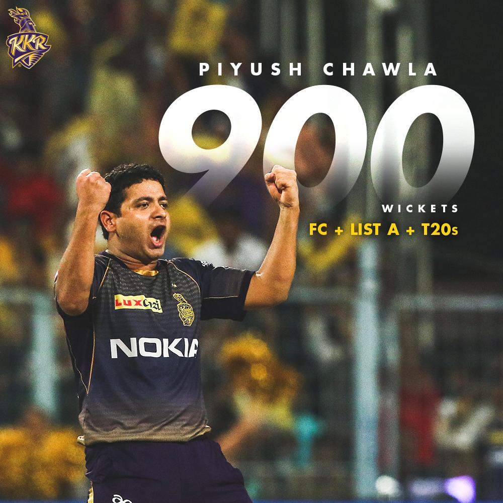 in First Class  in List A  in T20s  Congratulations Piyush Chawla on reaching another milestone  #KKR #KorboLorboJeetbo <br>http://pic.twitter.com/l0zQawI3zl
