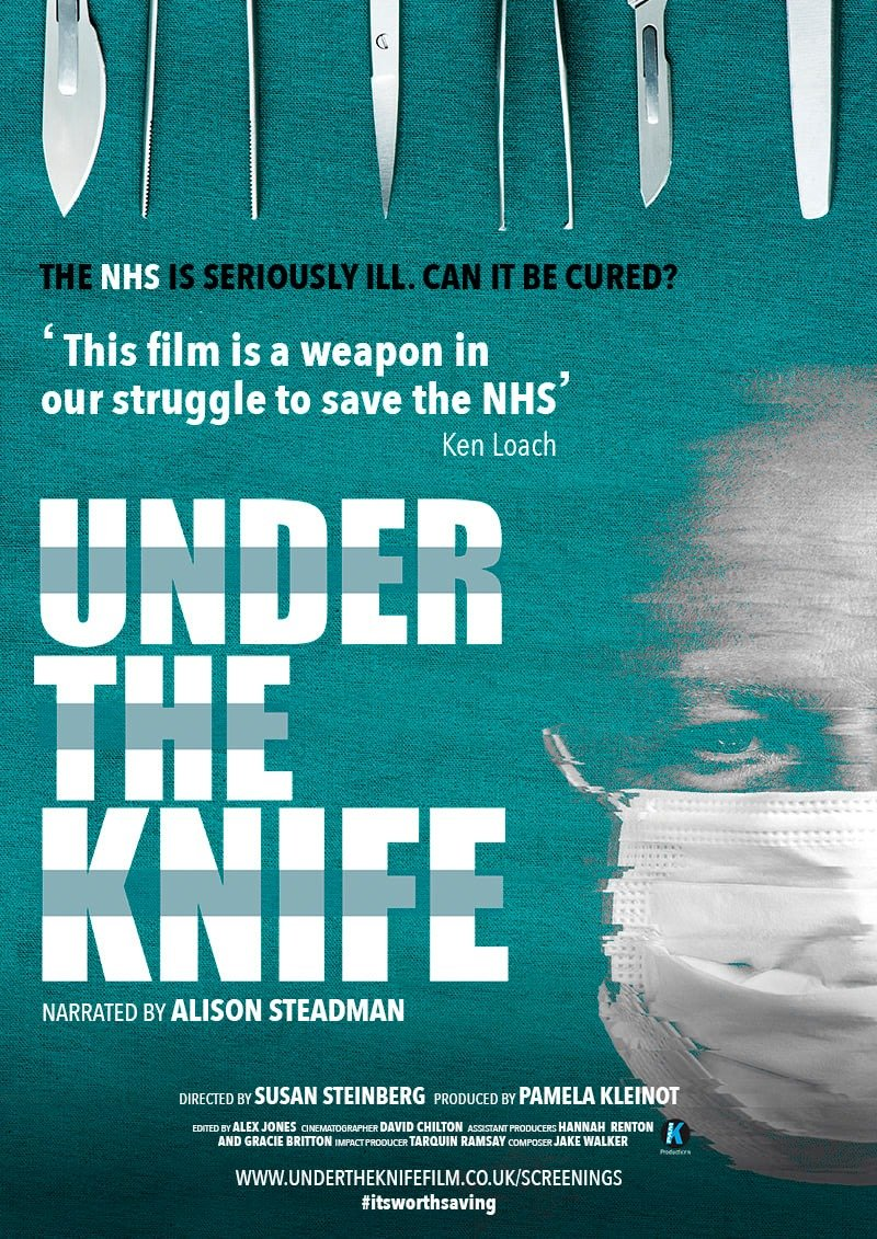 Under the Knife. Monday October 14. The Phoenix Independent Cinema, #Leicester. Tickets are sold out, but keep checking this link as we are expecting cancellations: eventbrite.co.uk/e/under-the-kn… Or come along anyway as not all will show up. @UTKNHS @PhoenixLeic #itsworthsaving #NHS