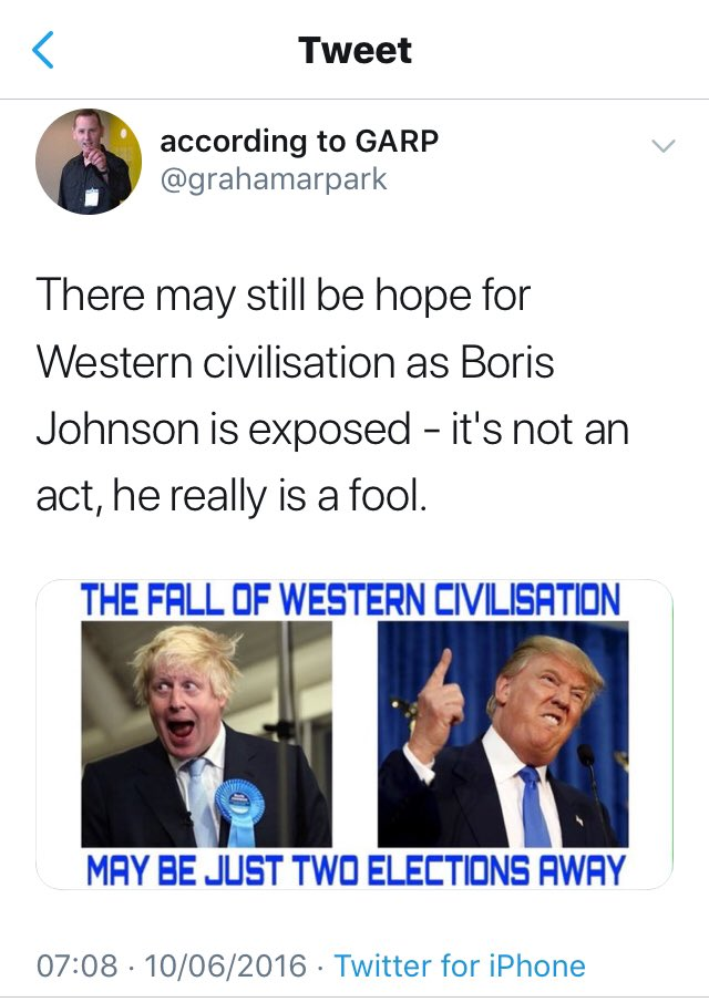 I was wrong about the number of elections but I really do feel as though the fall of Western Civilisation has begun. #FlashbackFriday