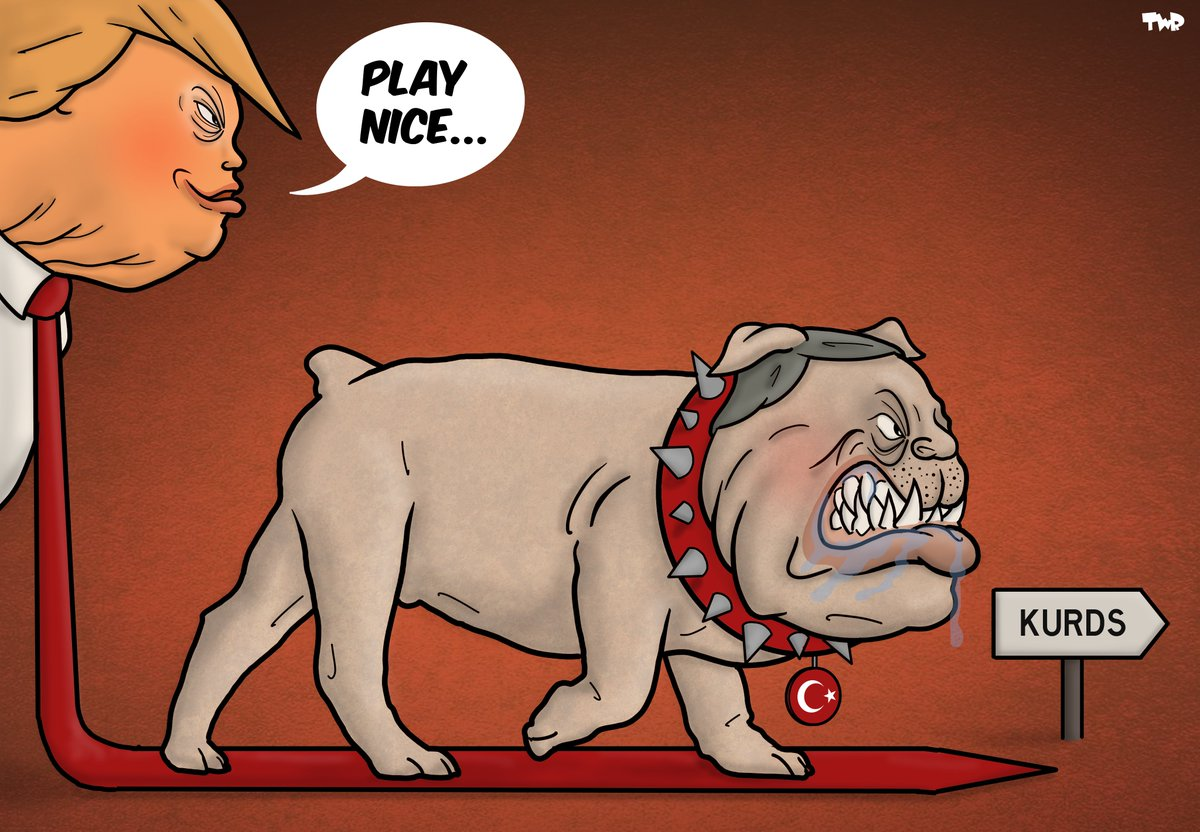 [EDITORIAL] Cacophony in the White House: the #Kurds of #Syria, betrayed by the United States #KurdsBetrayed Our weekly editorial is online on our website cartooningforpeace.org/en Cartoons by @Royaards (Netherlands) & @DrSherifArafa (Egypt)