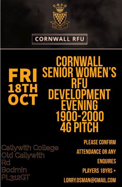 Cornwall Senior Women Dev Evening