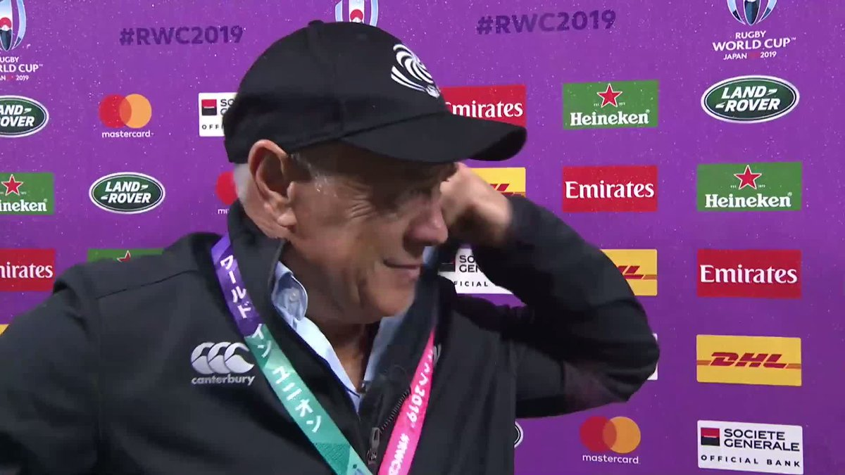 I cant fault them. They defended with their hearts, and thats all you can ask for @GeorgianRugby head coach Milton Haig gives his last post match interview after #AUSvGEO #RWC2019