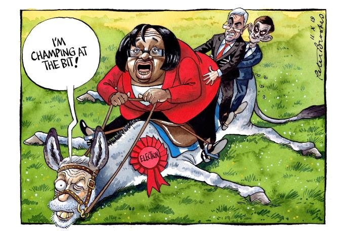 My cartoon Friday @TheTimes on #Labours totally unjustified enthusiasm for an #election....#JeremyCorbyn #dianeabbott #JohnMcDonnell #SeumasMilne