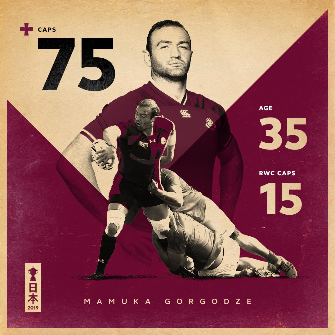 A giant of @GeorgianRugby. Mamuka Gorgodze bows out of international rugby. What a man. #RWC2019