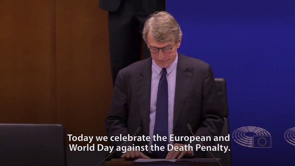 On European and World Day against the death penalty, @Europarl_EN is more determined than ever to defend human dignity. We owe it to future generations and we owe it to ourselves. #AbolishDeathPenalty