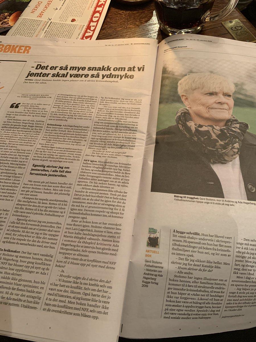 Morgenbladet i dag 😄💪💪