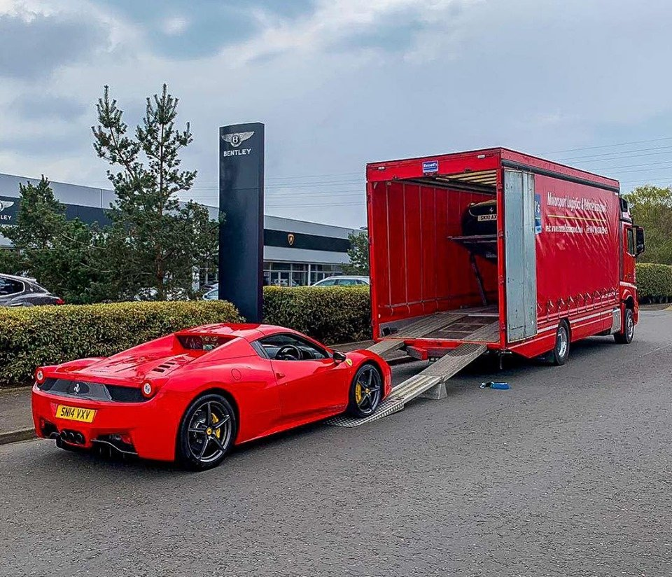 #FerrariFriday ! Have a great weekend! #Something  #Special  to #Move ? Call #RussellsTransport  #Supercars  #Classics  #Prestige  #F1  #Motorsport  #CarefulHandling  #EU  #Worldwide +441280850426 #JapaneseGP🇯🇵