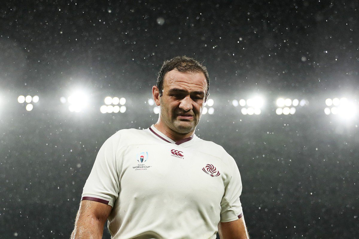 Hes given everything to the sport he loved. Farewell to the great Gorgodze. #RWC2019