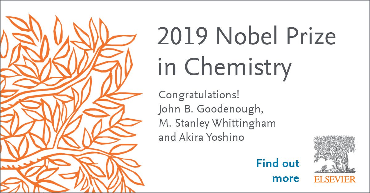 Congratulations to Drs. Goodenough (@UTAustin), Whittingham (@binghamtonu) and Yoshino (@meijo_univ) for the #NobelPrize in Chemistry. Their research is now #openaccess: http://bit.ly/2MAHoVJ  #ChemNobel