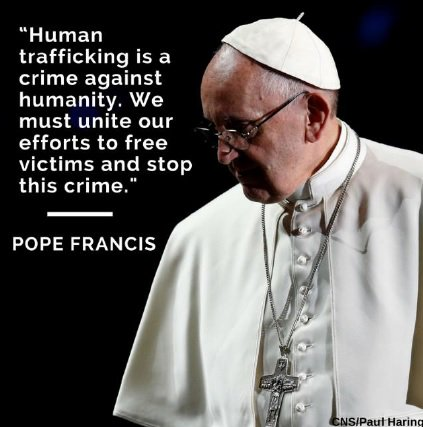 What is human trafficking? The Catholic Church is fighting for the dignity of the millions trapped in #humantrafficking. http://ow.ly/JGFm30pFiC9