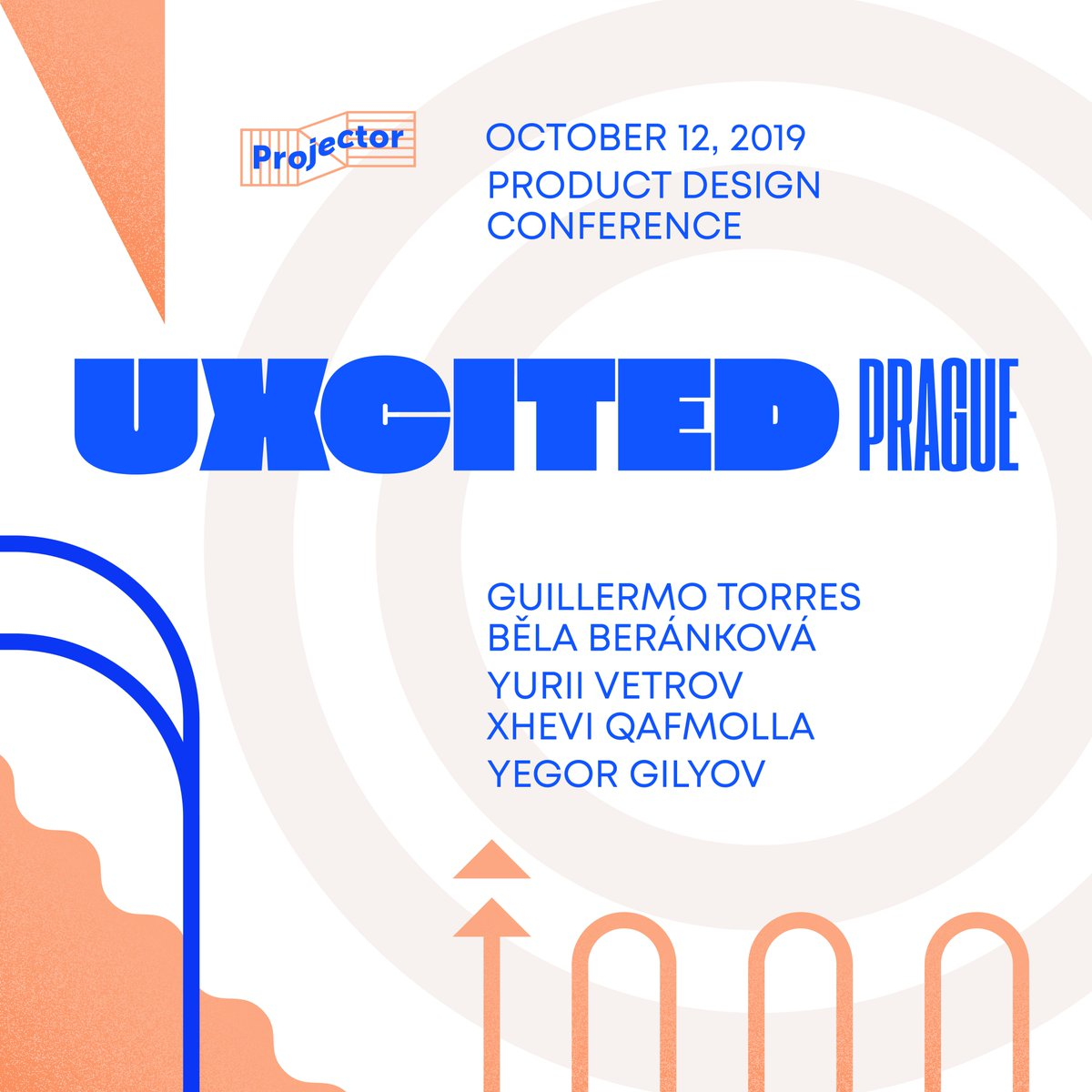 Get ready, Prague! The most practical product design conference — UXcited — is happening tomorrow, 12th of October in Prague. ⚡️@g1sh, @bjelice, @jvetrau, @xhevi, @yegorg⚡️  Get your tickets here: https://t.co/i0cKft1pRG  #prague #praha #design #conference https://t.co/BlquenVJKc