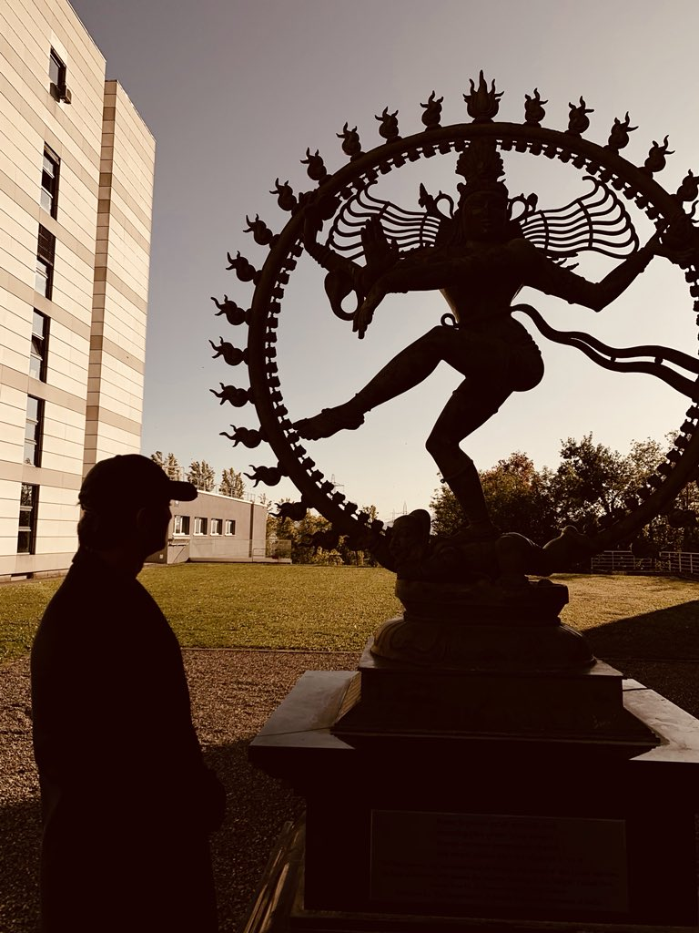 Today at European Organization for Nuclear Research. नमो-नमो, जी शंकरा  🔱 Goodnight guys :) ✨❤️